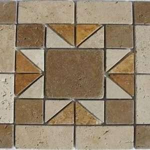 travertin Cluj medalion mosaic 03